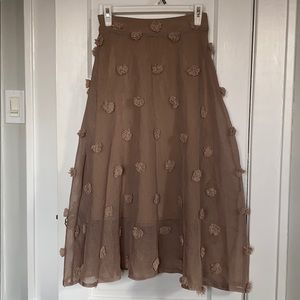 Chicwish Pom Midi Skirt